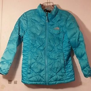 The North Face girls 550 fill down coat large